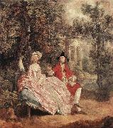 GAINSBOROUGH, Thomas Conversation in a Park sd oil painting picture wholesale