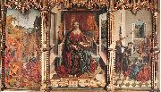 GALLEGO, Fernando Triptych of St Catherine  dfg oil painting