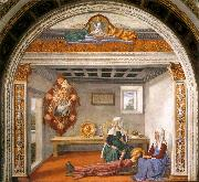 GHIRLANDAIO, Domenico Announcement of Death to St Fina sdg oil painting picture wholesale