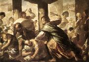 GIORDANO, Luca Christ Cleansing the Temple dh oil painting picture wholesale