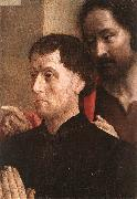 GOES, Hugo van der Portrait of a Donor with St John the Baptist dg oil painting picture wholesale