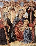 GOZZOLI, Benozzo Madonna and Child between Sts Andrew and Prosper (detail) fg oil painting picture wholesale