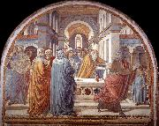 GOZZOLI, Benozzo Expulsion of Joachim from the Temple g oil painting picture wholesale