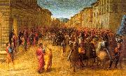GRANACCI, Francesco Entry of Charles VIII into Florence  dfg oil painting