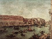GUARDI, Francesco The Grand Canal at the Fish Market (Pescheria) dg oil painting picture wholesale