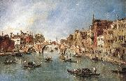GUARDI, Francesco The Three-Arched Bridge at Cannaregio sdg oil painting picture wholesale