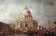 GUARDI, Francesco The Doge at the Basilica of La Salute  gd oil painting picture wholesale