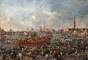 GUARDI, Francesco The Doge on the Bucintoro near the Riva di Sant Elena oil painting picture wholesale
