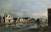 GUARDI, Francesco The Grand Canal with Santa Lucia and the Scalzi dfh oil painting picture wholesale