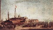 GUARDI, Francesco The Piazzetta, Looking toward San Giorgio Maggiore dh oil painting artist