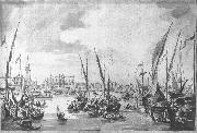 GUARDI, Francesco The Molo and the Riva degli Schiavoni from the Bacino di San Marco sdg oil painting picture wholesale