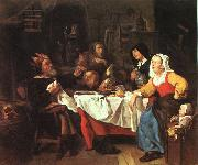 Gabriel Metsu The Bean Feast oil painting picture wholesale