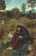 Geertgen Tot Sint Jans John the Baptist in the Wilderness oil painting