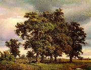 Georg-Heinrich Crola Oak Trees oil painting reproduction