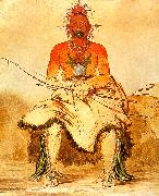 George Catlin Buffalo Bull : A Grand Pawnee Warrior oil painting picture wholesale