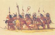George Catlin War Dance oil painting picture wholesale