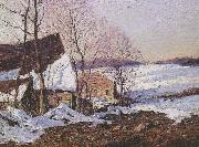 George M Bruestle Barns in Winter oil painting picture wholesale