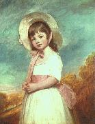 George Romney Miss Willoughby oil painting
