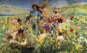 Georges Rochegrosse The Knight of the Flowers(Parsifal)