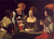 Georges de La Tour The Cheat with the Ace of Diamonds oil painting artist