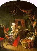 Gerrit Dou The Young Mother oil painting reproduction
