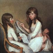 Gilbert Charles Stuart Miss Dick and her cousin Miss Forster oil painting reproduction