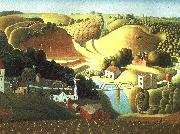 Grant Wood Stone City, Iowa oil painting
