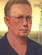 Grant Wood Self Portrait  bdfhbb oil painting