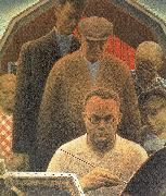 Grant Wood Return From Bohemia oil painting