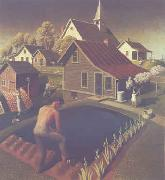 Grant Wood Spring in Town oil painting picture wholesale
