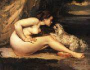 Nude with Dog