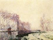 Gustave Loiseau The Eure River in Winter oil painting picture wholesale