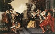 HALS, Dirck Merry Party in a Tavern fdg oil painting