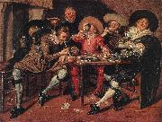 HALS, Dirck Amusing Party in the Open Air s oil painting