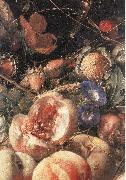 HEEM, Cornelis de Still-Life with Flowers and Fruit (detail) sg oil painting