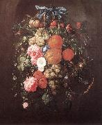 HEEM, Cornelis de Still-Life with Flowers wf oil painting