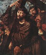 HEMESSEN, Jan Sanders van Christ Carrying the Cross wsg oil painting