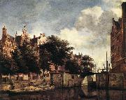 HEYDEN, Jan van der Amsterdam, Dam Square with the Town Hall and the Nieuwe Kerk s oil painting