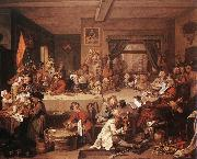 HOGARTH, William An Election Entertainment f oil painting