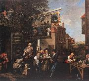 HOGARTH, William Soliciting Votes s oil painting