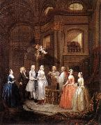 HOGARTH, William The Marriage of Stephen Beckingham and Mary Cox f oil painting