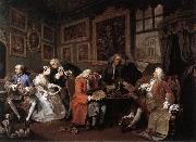 HOGARTH, William Marriage a la Mode 1 oil painting
