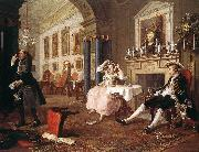 HOGARTH, William Marriage a la Mode  4 oil painting