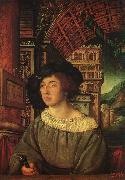 HOLBEIN, Ambrosius Portrait of a Young Man sf oil painting