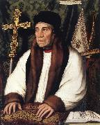 HOLBEIN, Hans the Younger Portrait of William Warham, Archbishop of Canterbury f oil painting on canvas