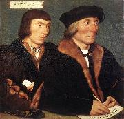 HOLBEIN, Hans the Younger Double Portrait of Sir Thomas Godsalve and His Son John oil painting picture wholesale
