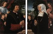 HORENBOUT, Gerard Portraits of Lieven van Pottelsberghe and his Wife sf oil painting