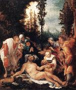 HUBER, Wolf The Lamentation of Christ sg oil painting