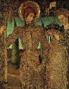 HUGUET, Jaume Triptych of Saint George (detail) af oil painting