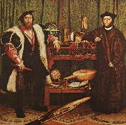 Hans Holbein The Ambassadors oil painting reproduction